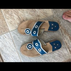 Jack Rogers blue and silver